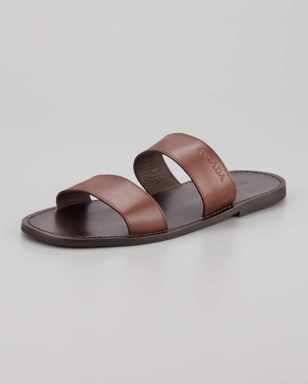fed6ed1bb57309 Prada two strap slide sandal for men Sandals 2014