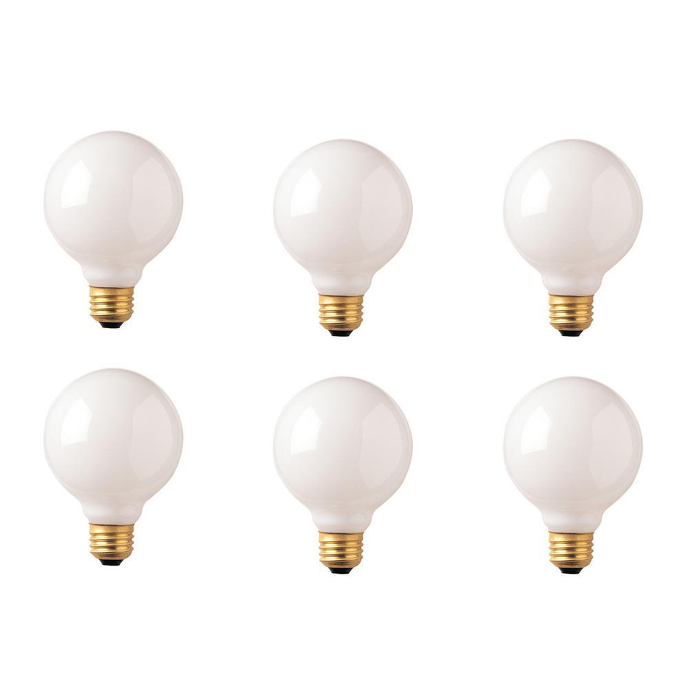40 Watt G30 White Dimmable Warm White Light Incandescent Light Bulb