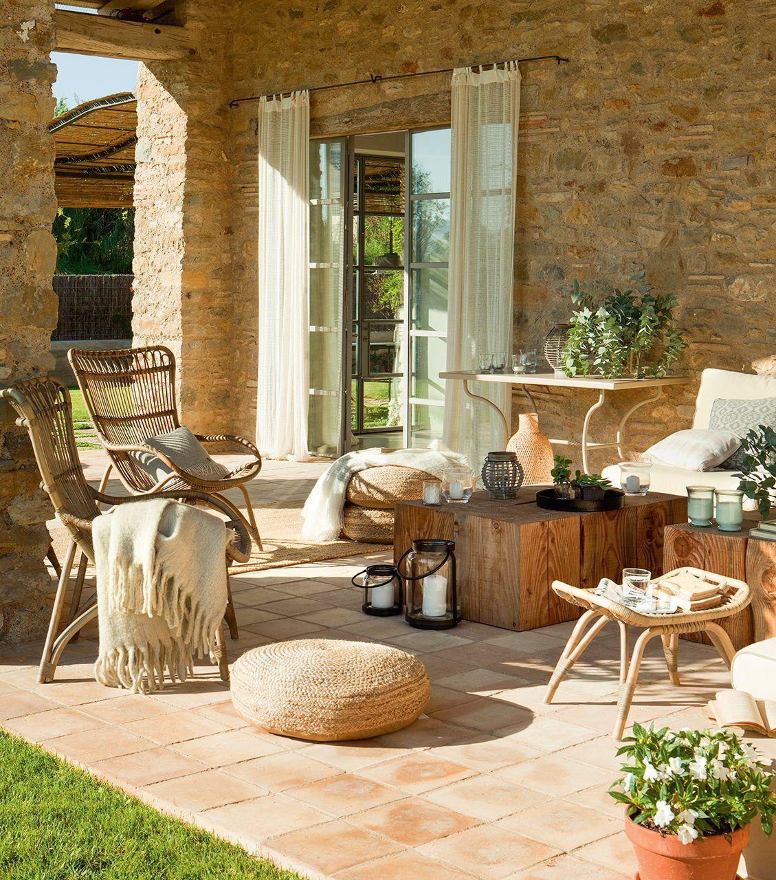 Porche de piedra | Antigua, Casas y Terrazas