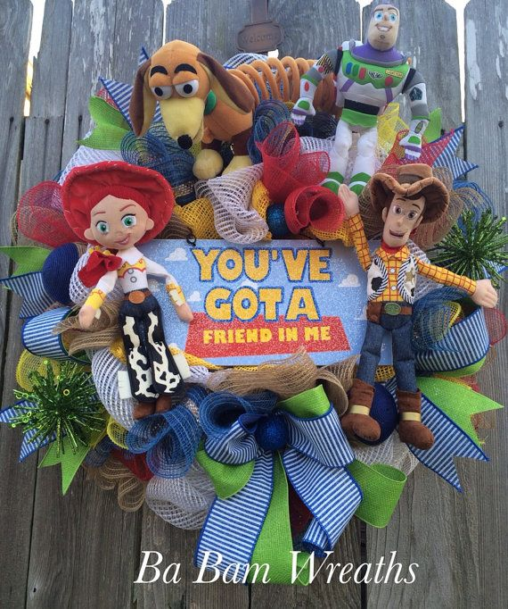 Toy Story Decor Toy Story Party Toy Story Wreath Mickey Mouse Wreath Everyday Wreath Christmas Tree Toy Mickey Mouse Wreath Disney Christmas Tree Theme