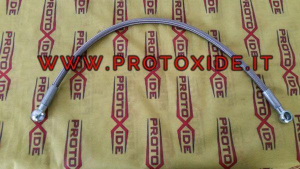 Tubo Olio In Calza Metallica Per Turbo Gt1446 Su Fiat 500