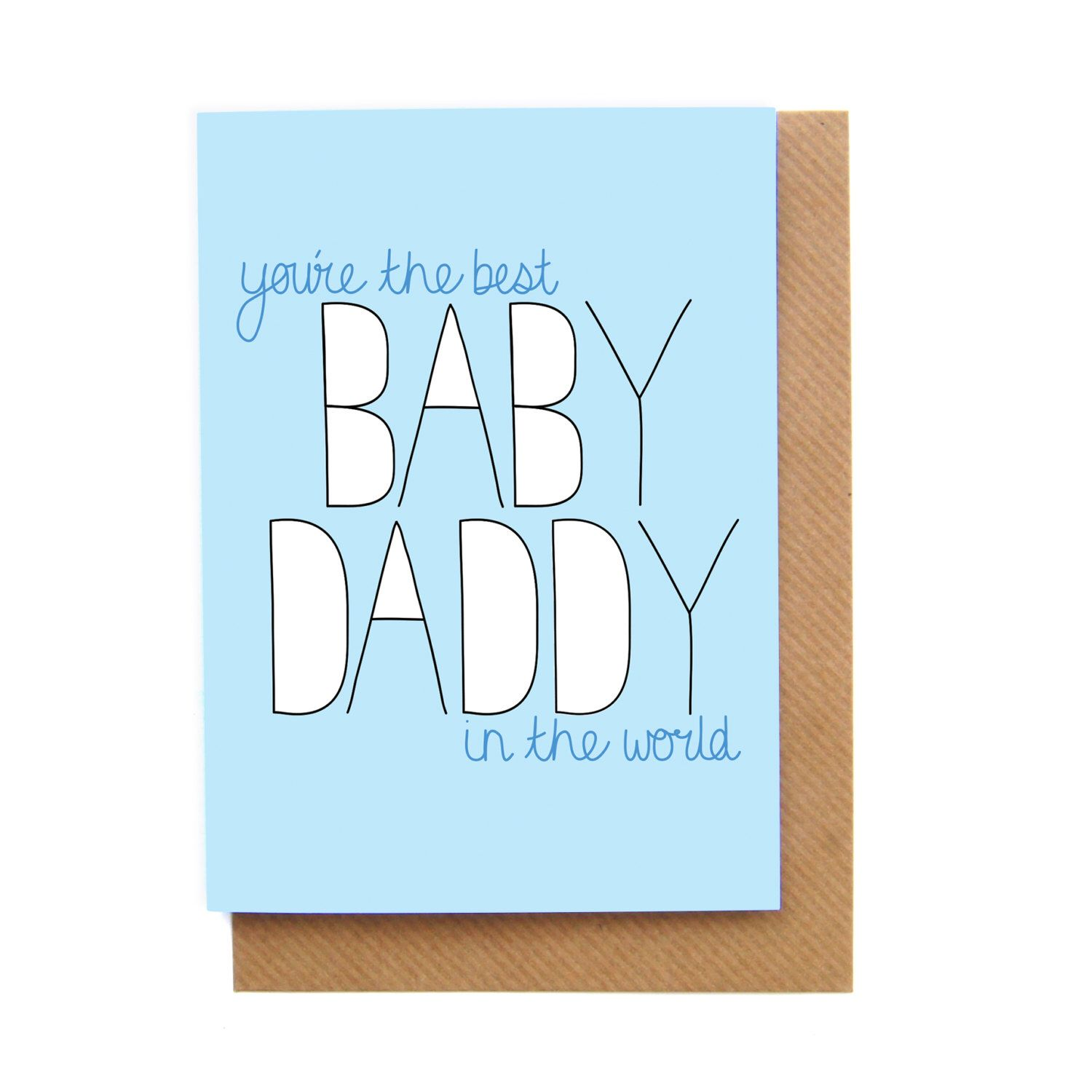 Funny Fathers Day Card Baby Daddy Happy Birthday Daddy Greetings