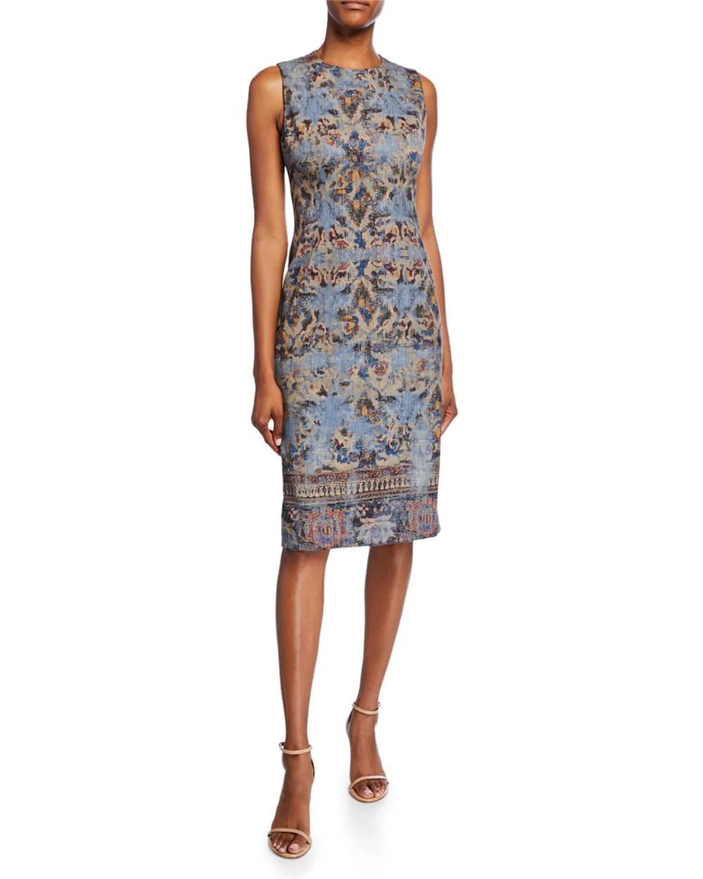 Kobi Halperin Sienna Sleeveless Sheath Dress Sleeveless Sheath Dress Kobi Halperin Printed Sheath Dresses [ 1250 x 1000 Pixel ]