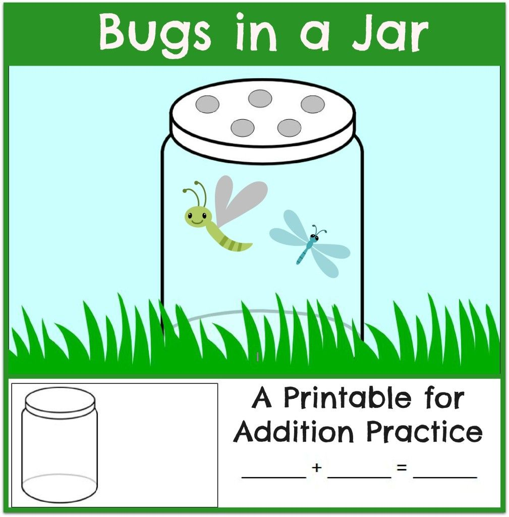Fun Addition Practice: Bugs in a Jar | Math, Worksheets and Free ...