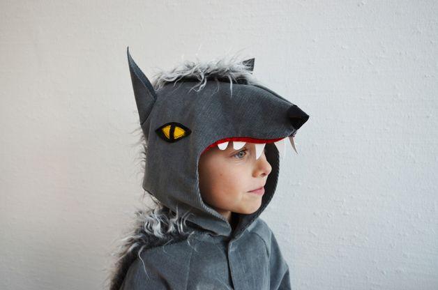 wolf 8 9 jahre werwolf hund kinder kost m grauer wolf kost me f r kinder und verkleidung. Black Bedroom Furniture Sets. Home Design Ideas