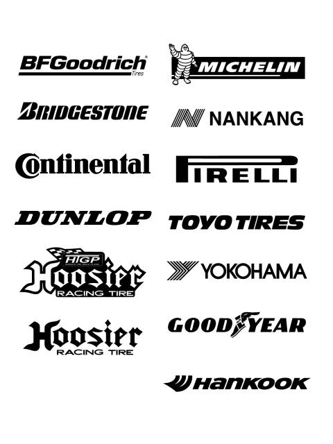 Free Logo Wheels vector brands BFGoodrich, Michelin