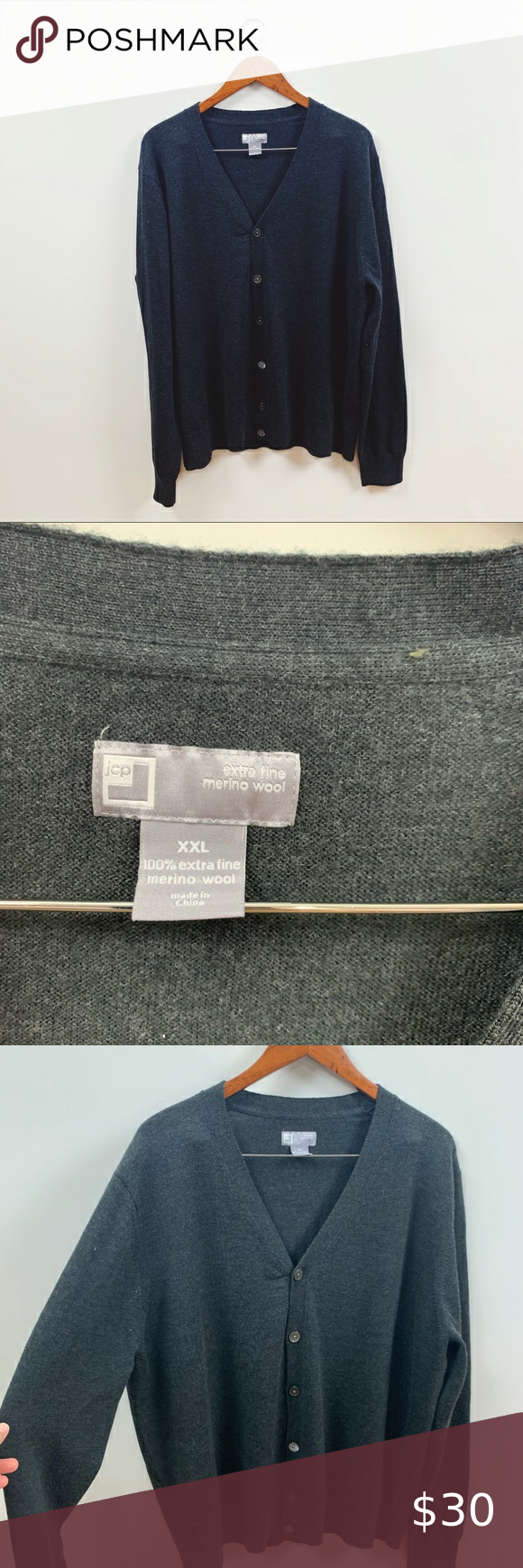 jcpenney | plus size gray wool sweater cardigan in 2020