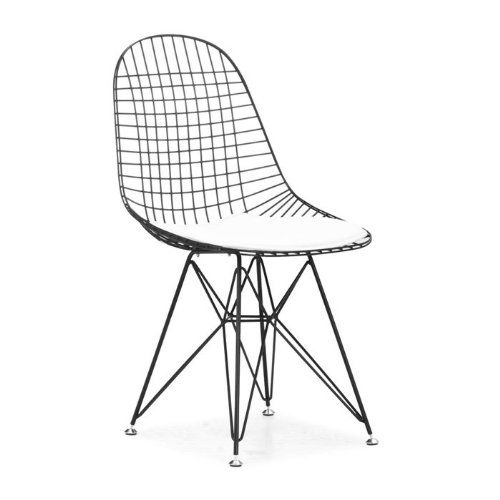 Zuo Set Of 2 Mesh On Frame Dining Chairs Black Amazon Co Uk