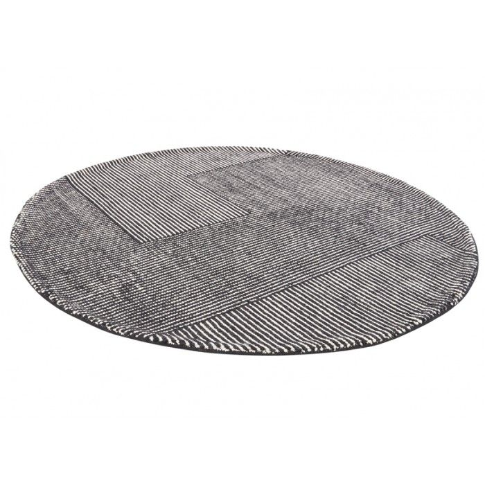 Tom Dixon-Stripe Rug Round White