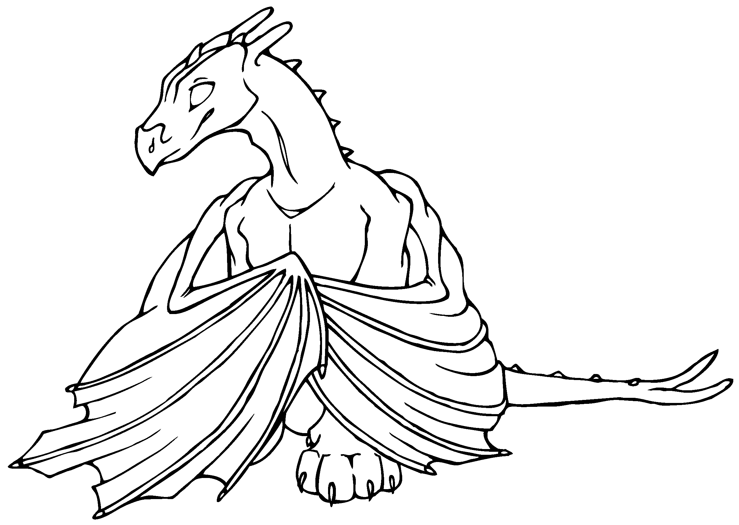 Printable coloring pages of dragons - Here S Our Collection Of Dragon Coloring Pages For Toddlers Preschool And Kindergarten These Are Suitable For A Dragon Theme Fantasy Fairy Tales Theme O