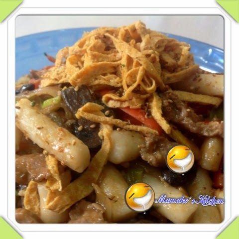 Korean Loyal Court Stir Fried Rice Cake--Gungjung Ddeokbokki (궁중 떡볶이) 炒韓國年糕