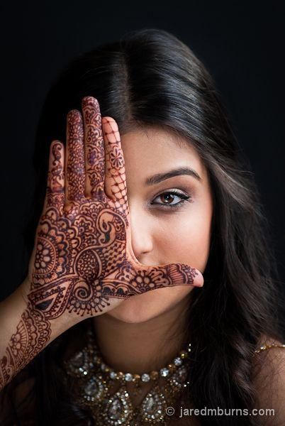 East Indian Henna Tattoo: Henna Portrait :: East Indian Model Karishma Sharma Poses
