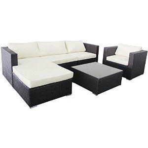 Amazon Com Ollypulse 6pc Rattan Sofa Garden Patio Lawn Sectional