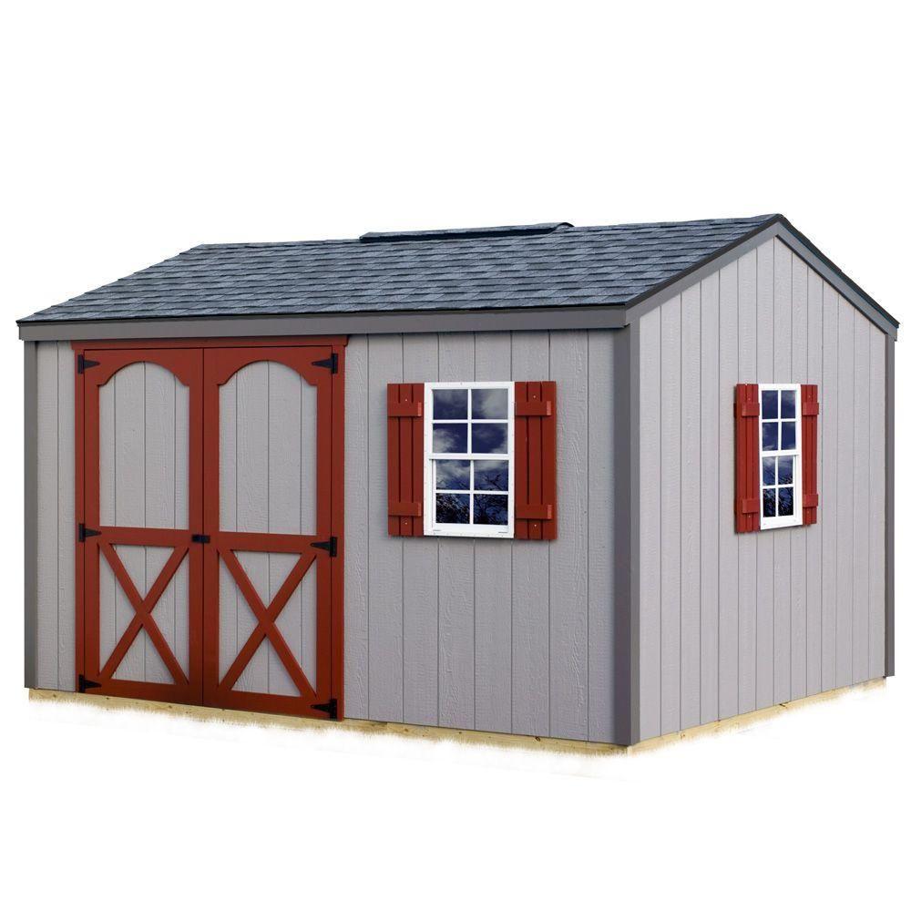 Hangar En Kit Bois best barns cypress 12 ft. x 10 ft. wood storage shed kit