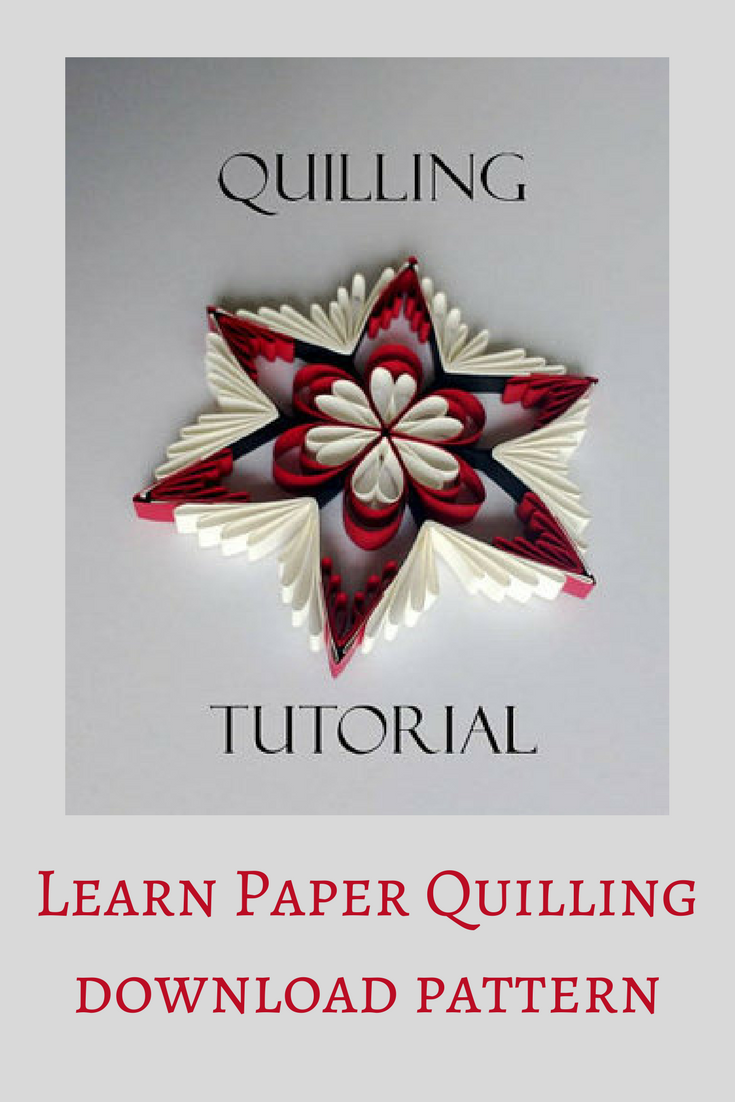 Paper quilling pattern and printable template, paper carft, DIY step ...