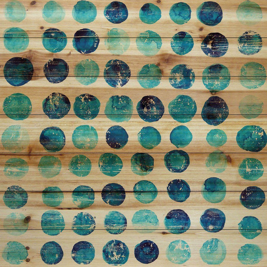 Blue dot stamps pattern art