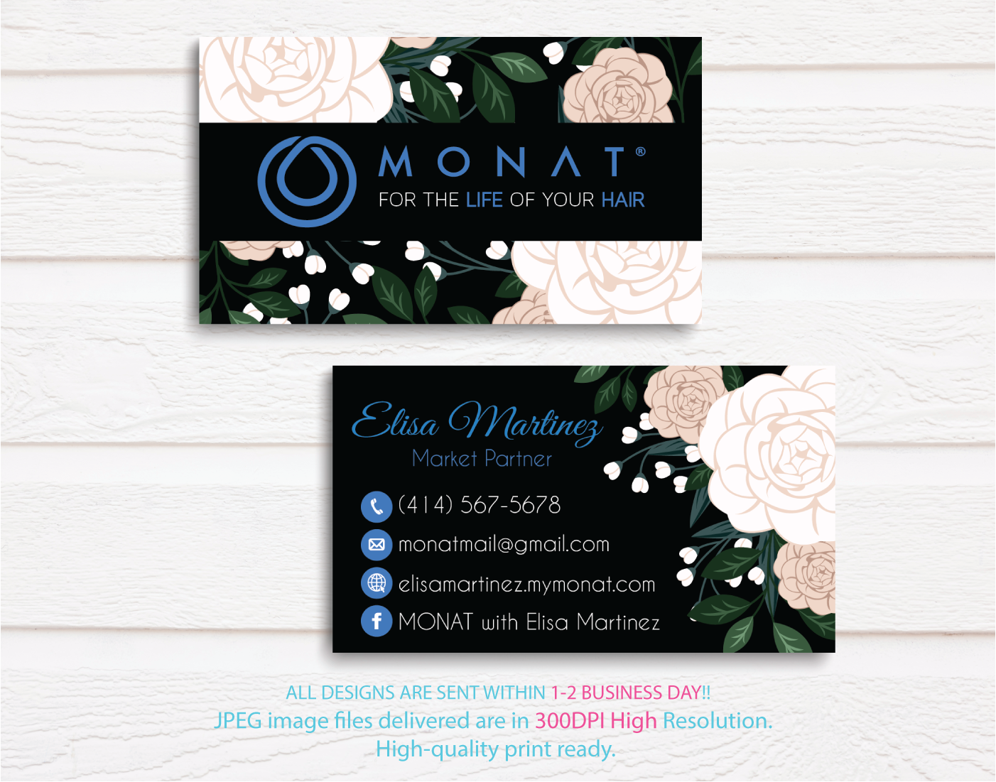 Monat Business Card, Custom Monat Business Card, Business