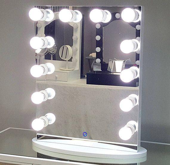 Hollywood Lighted Vanity Mirror, Hollywood Vanity Mirror Frameless