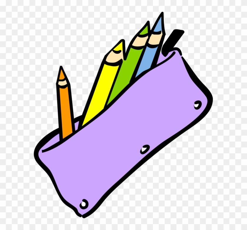 Vector Illustration Of Student S School Pencil Case Pencil Case Clipart Png 257023 School Pencil Case School Pencils Hand Illustration