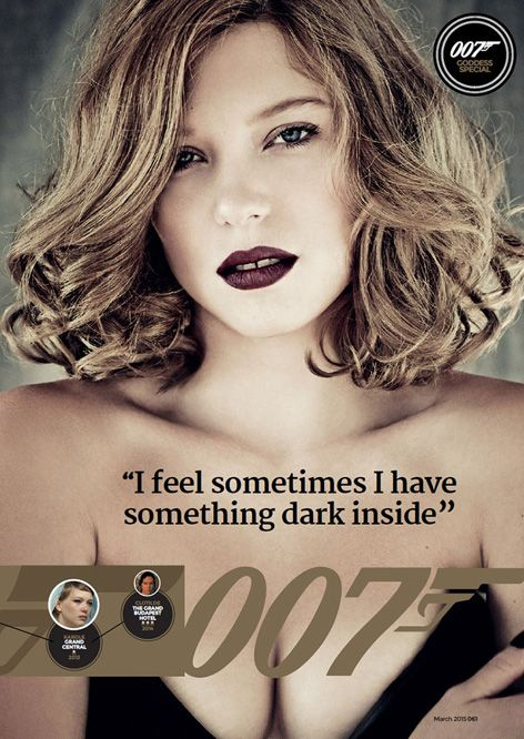Lea Seydoux on cover of Loaded magazine, March 2015