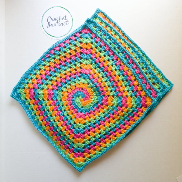 Spiral Illusion Square- Free Crochet Pattern | Make Life