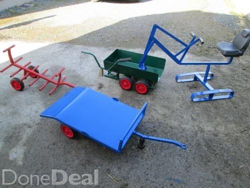 Toy Digger, low loader, dump trailer etc For Sale in