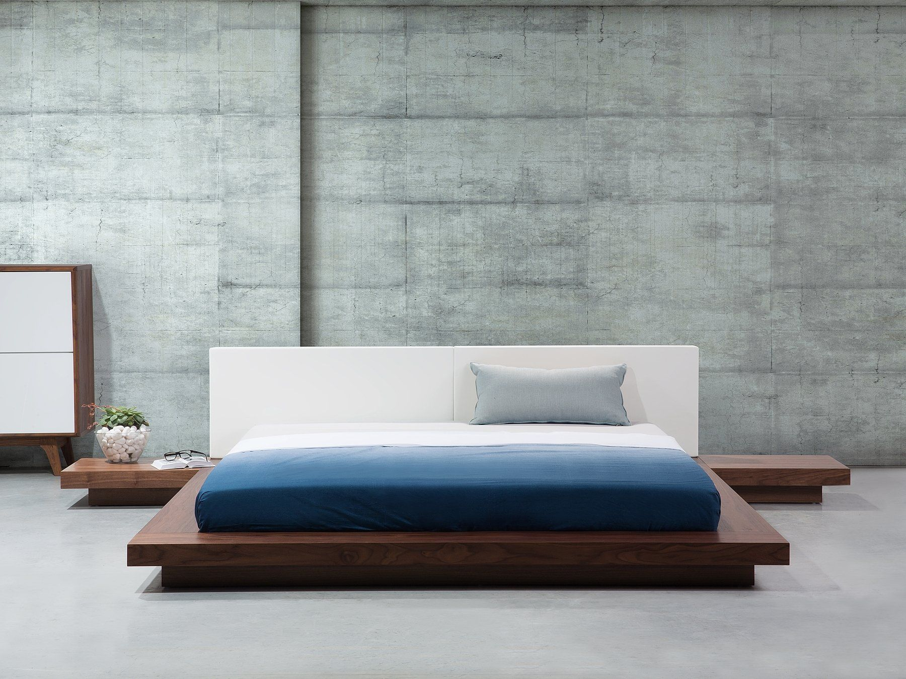Wasserbett Holzfarbton 180 X 200 Cm Zen Holzbetten Bett Modern Designer Bett