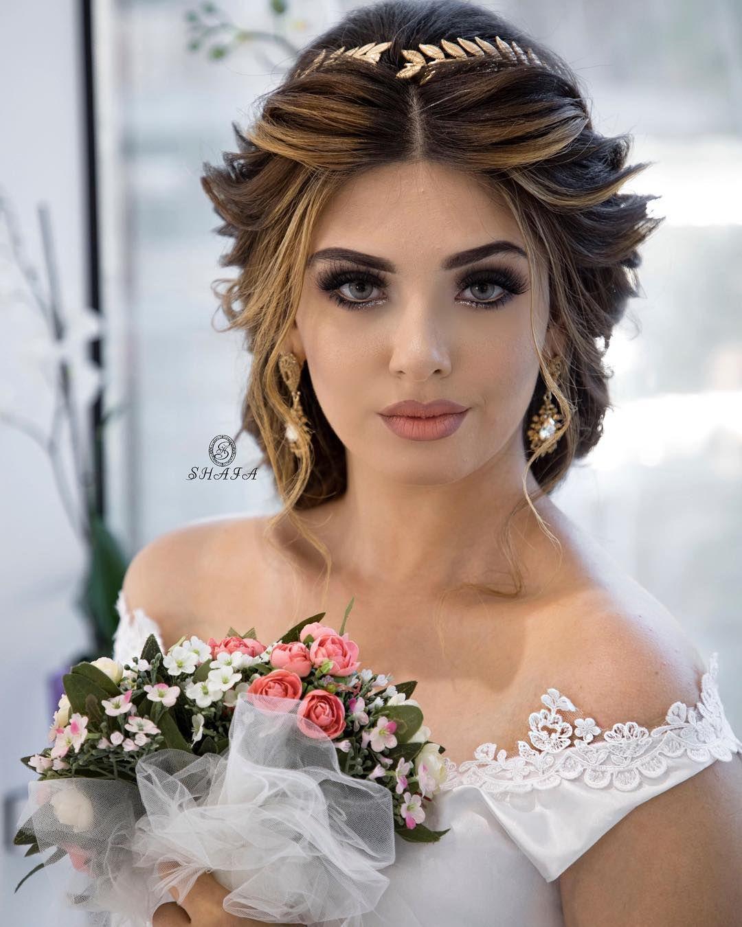 11 4b Begenme 55 Yorum Instagram 39 Da Shafaq Novruzova Shafastudio Quot Makiyaj Ayan Ayan Bridal Hair And Makeup Bride Hairstyles Wedding Hairstyles