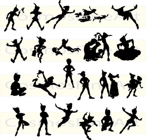 17 Tinkerbell And Peter Pan Tattoos Peter Pan Silhouette Peter Pan Tattoo Peter Pan
