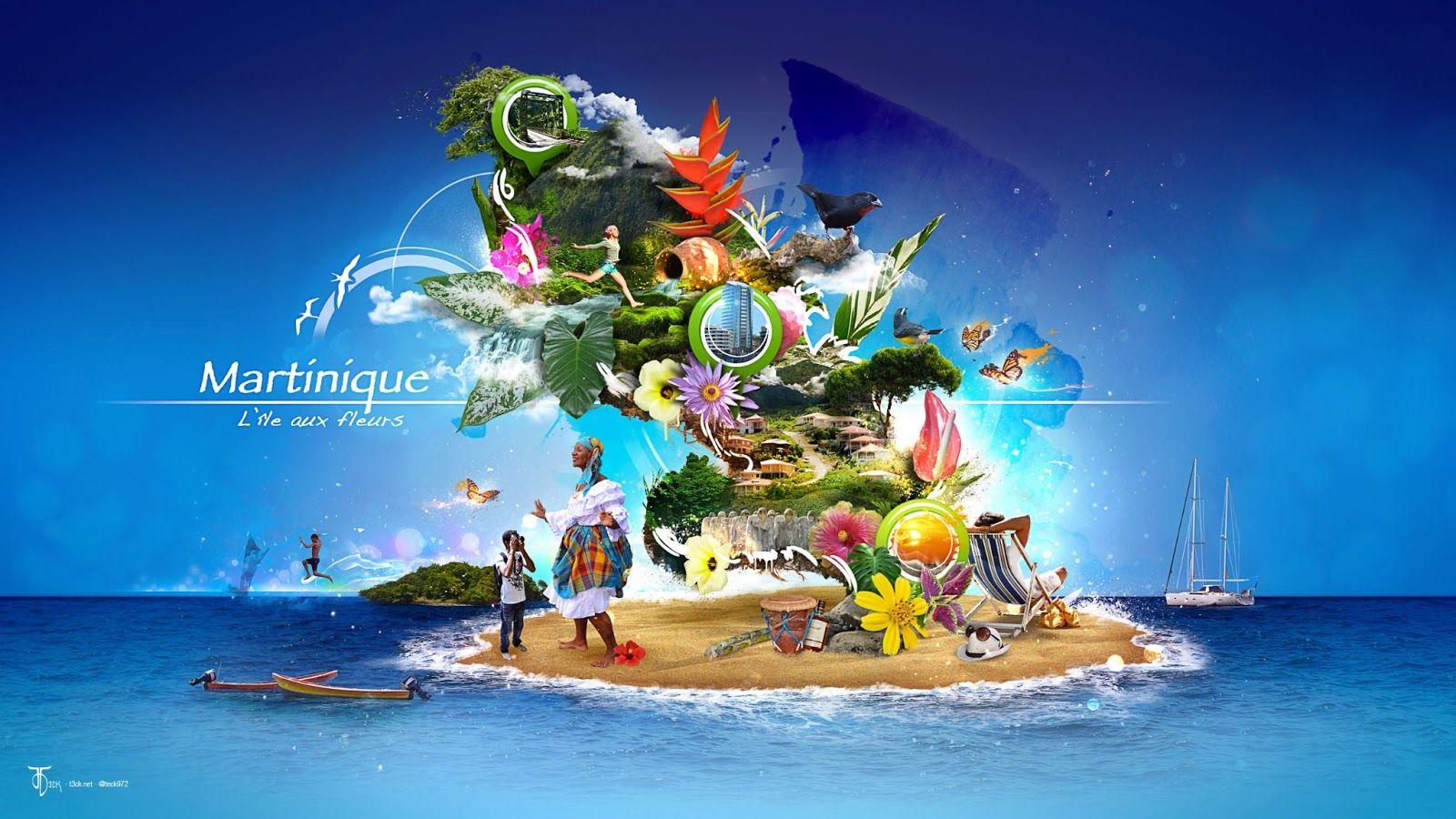 Bien-aimé Affiche #Martinique | J'M la Martinique | Pinterest  WV31