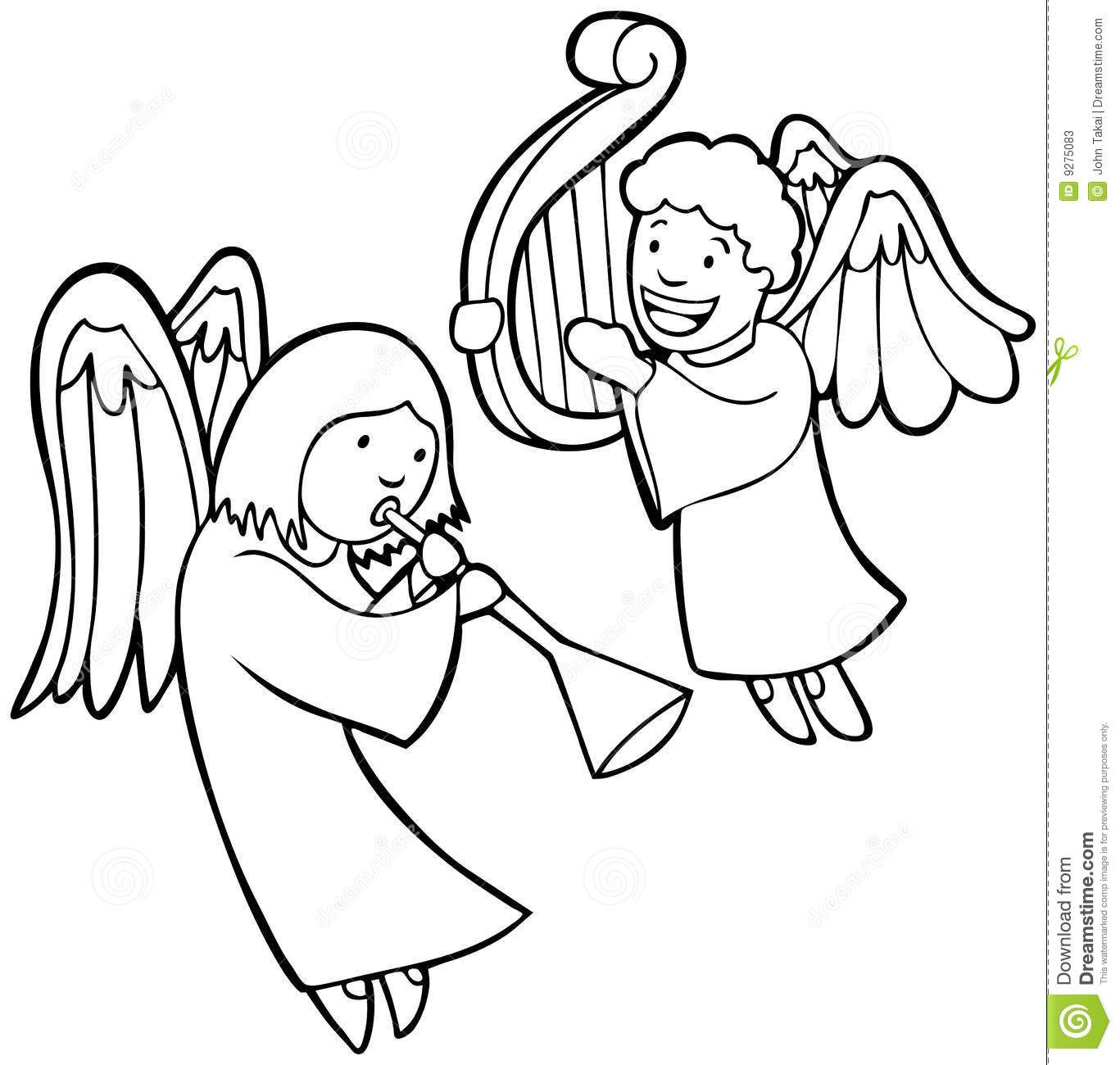 Angels Clipart Google Search Angel Coloring Pages Cartoon Angel Wings Free Art Prints