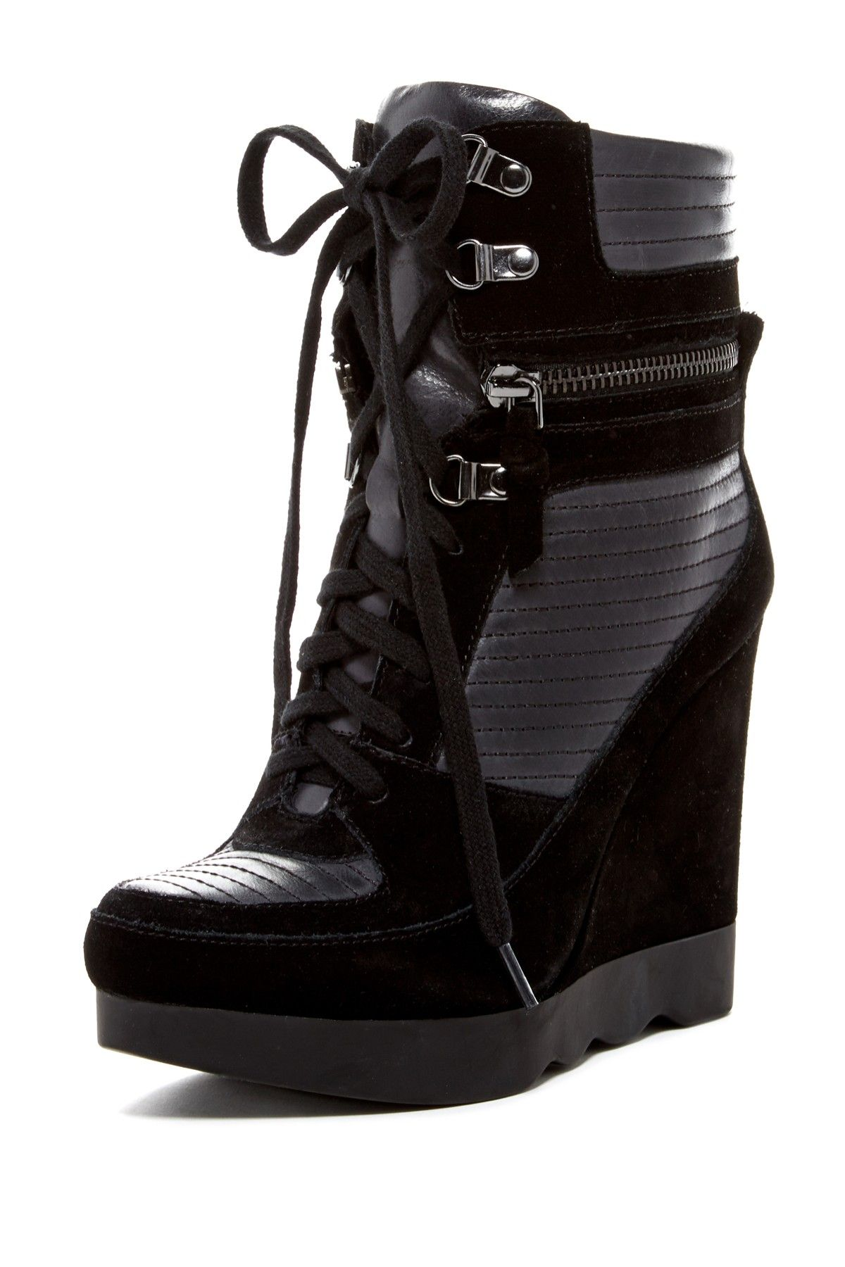 Wedge High-Top Sneaker | Shoes | Shoes, Shoe boots, Sneakers