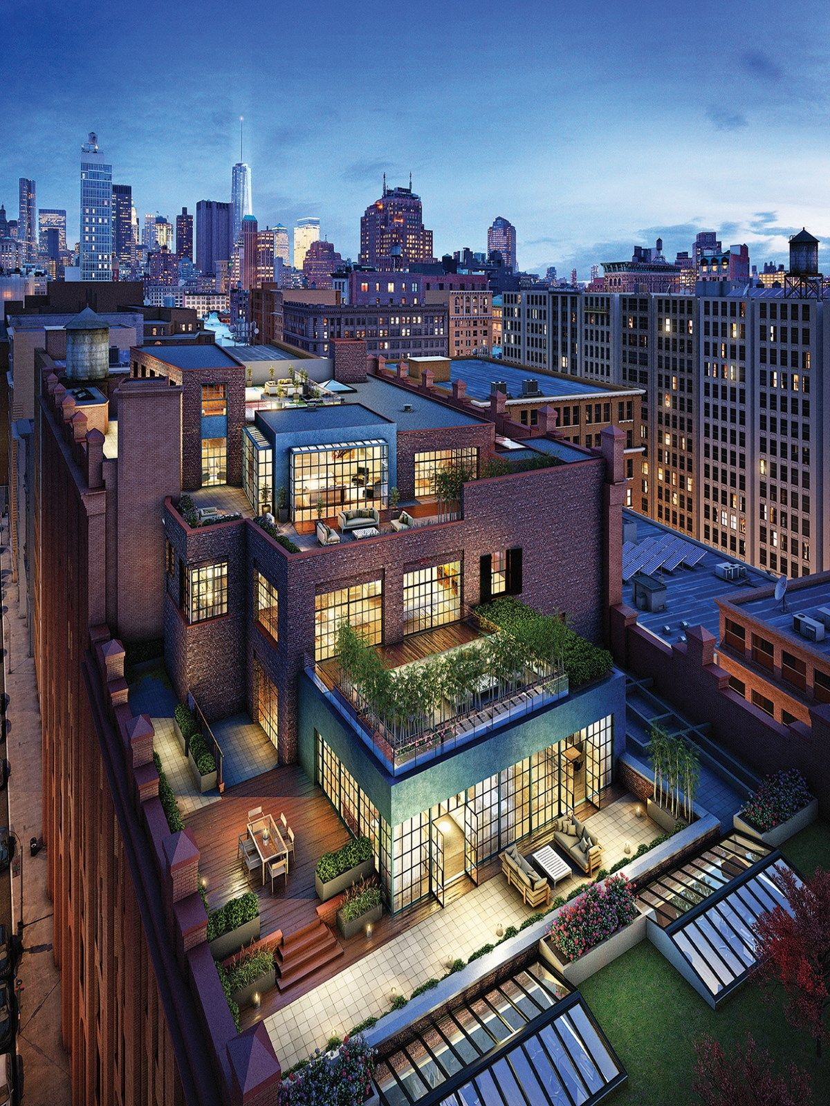 Puck penthouses new york for Luxury new york city real estate