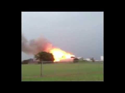 Video muestra el preciso instante de la explosión en Texas #Video - Cachicha.com