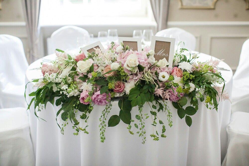 Stol Pary Mlodej Table Arrangements Wedding Flower Centerpieces Wedding Bridal Table Flowers