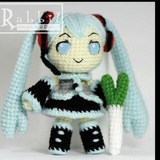 Anime Hatsune miku Crochet Doll Pattern