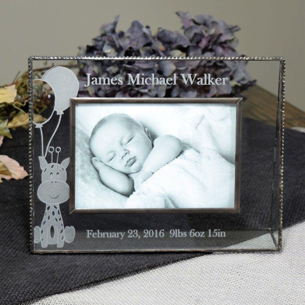 Personalized Gifts-J Devlin Glass Photo Frame-Baby-Gift- Newborn ...