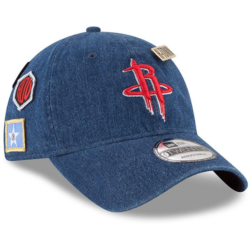 separation shoes 70636 9ddee Houston Rockets New Era 2018 Draft 9TWENTY Adjustable Hat – Denim