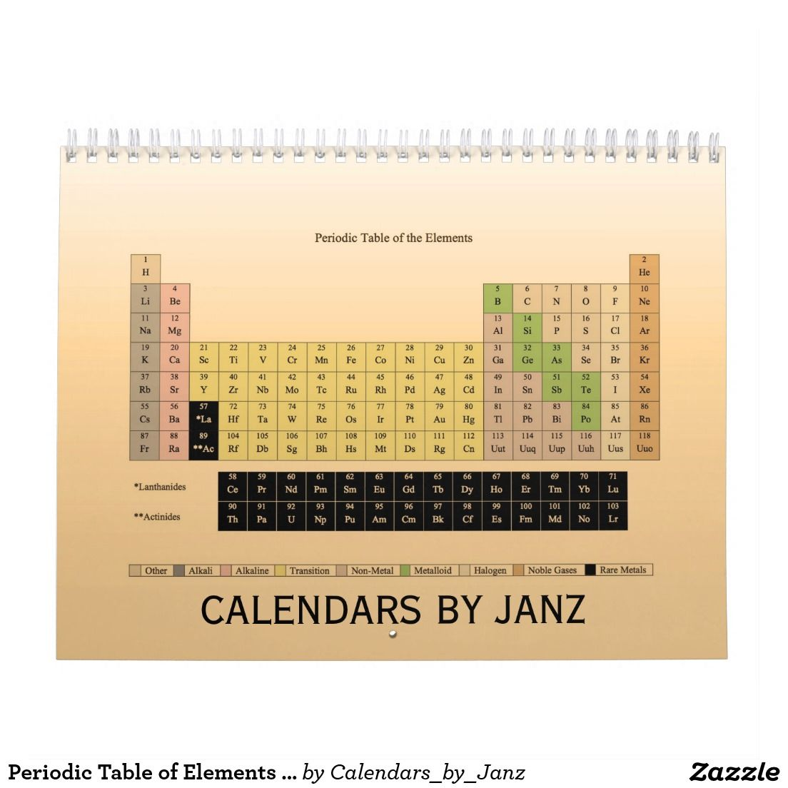 Periodic Table Of Elements Calendar By Janz Advertise Anything