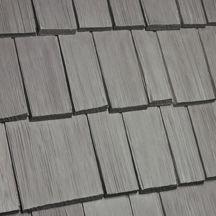 Best Bellaforté Shake Harbor Gray Plastic Roof Tiles Corrugated Roofing Tiles 400 x 300