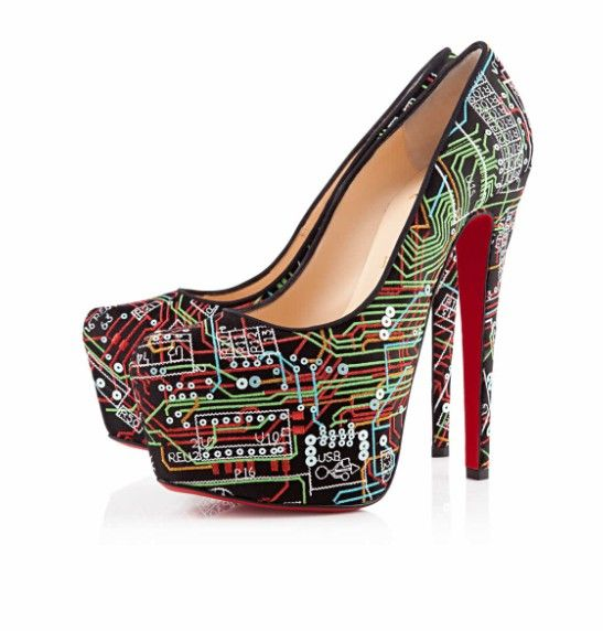 1612a12587c Louboutin motherboard shoes | Shinies | Christian louboutin, Shoes ...