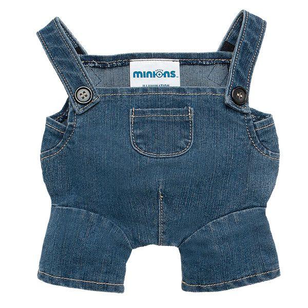 Build a Bear Workshop 15 Plush Minion Doll Clothes Blue Denim Overalls