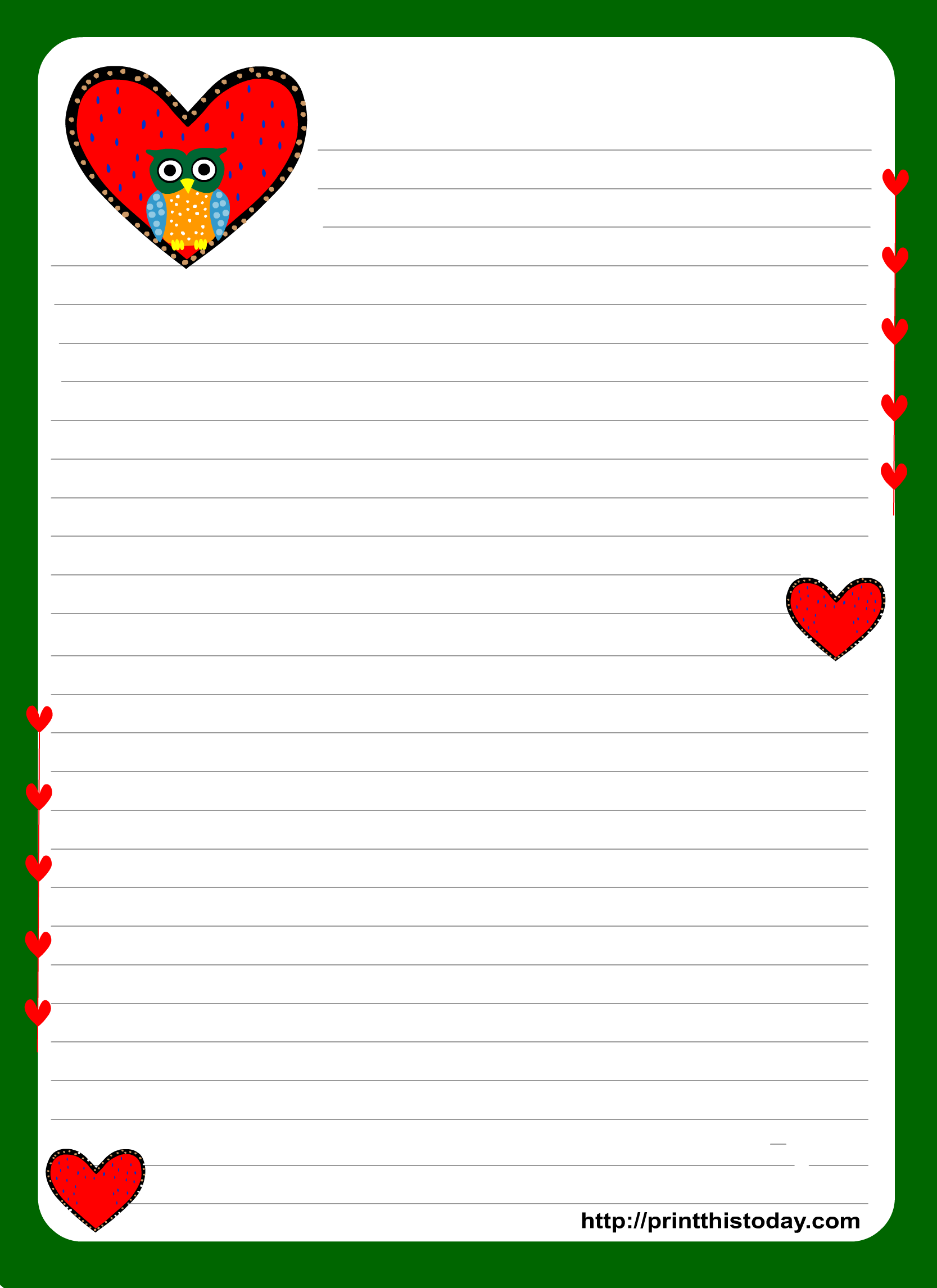 Love Letter Stationery 6Moltissim Pdf