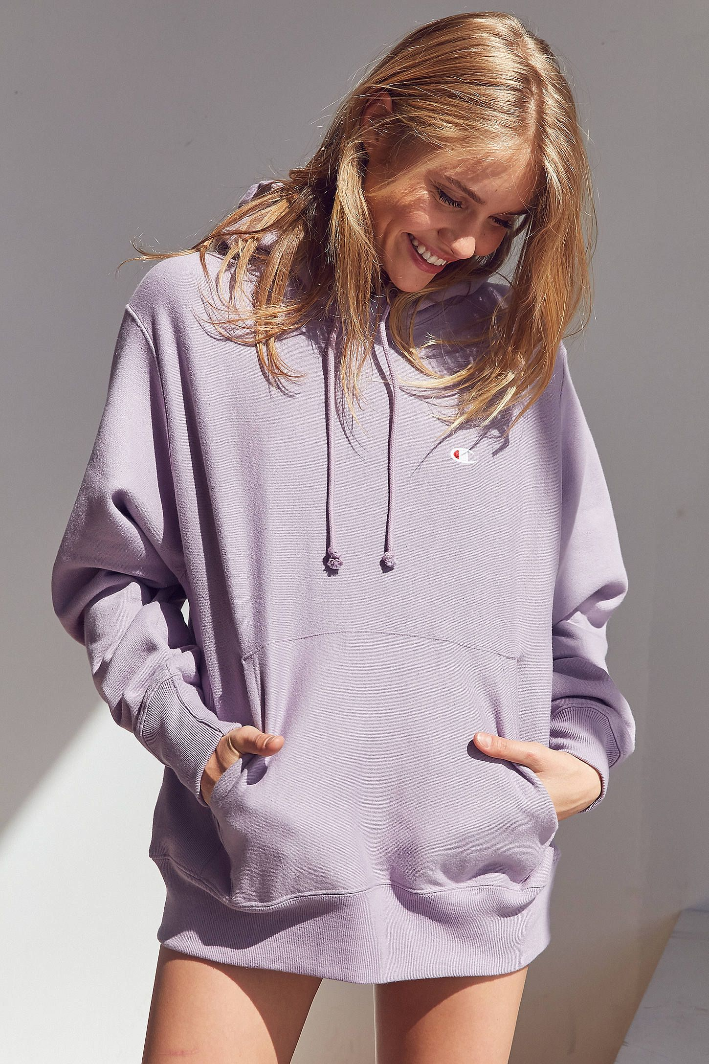 Shop the Champion + UO Reverse Weave Hoodie Sweatshirt and more Urban  Outfitters at Urban Outfitters. Read customer reviews e830f96e4