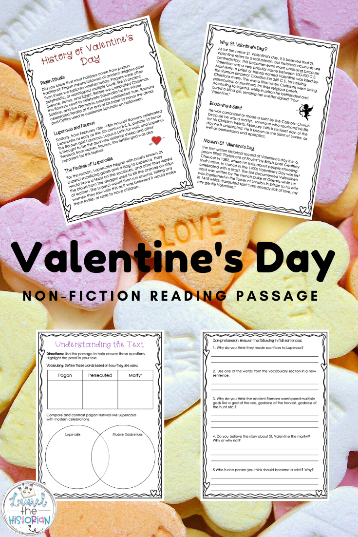 History Of Valentine S Day Reading Comprehension Fiction Reading Passages Differentiated Reading Reading Passages [ 1102 x 735 Pixel ]