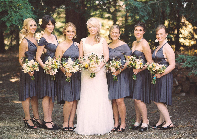 Charcoal Gray Bridesmaid Dress | Pinterest | Grey bridesmaid dresses ...