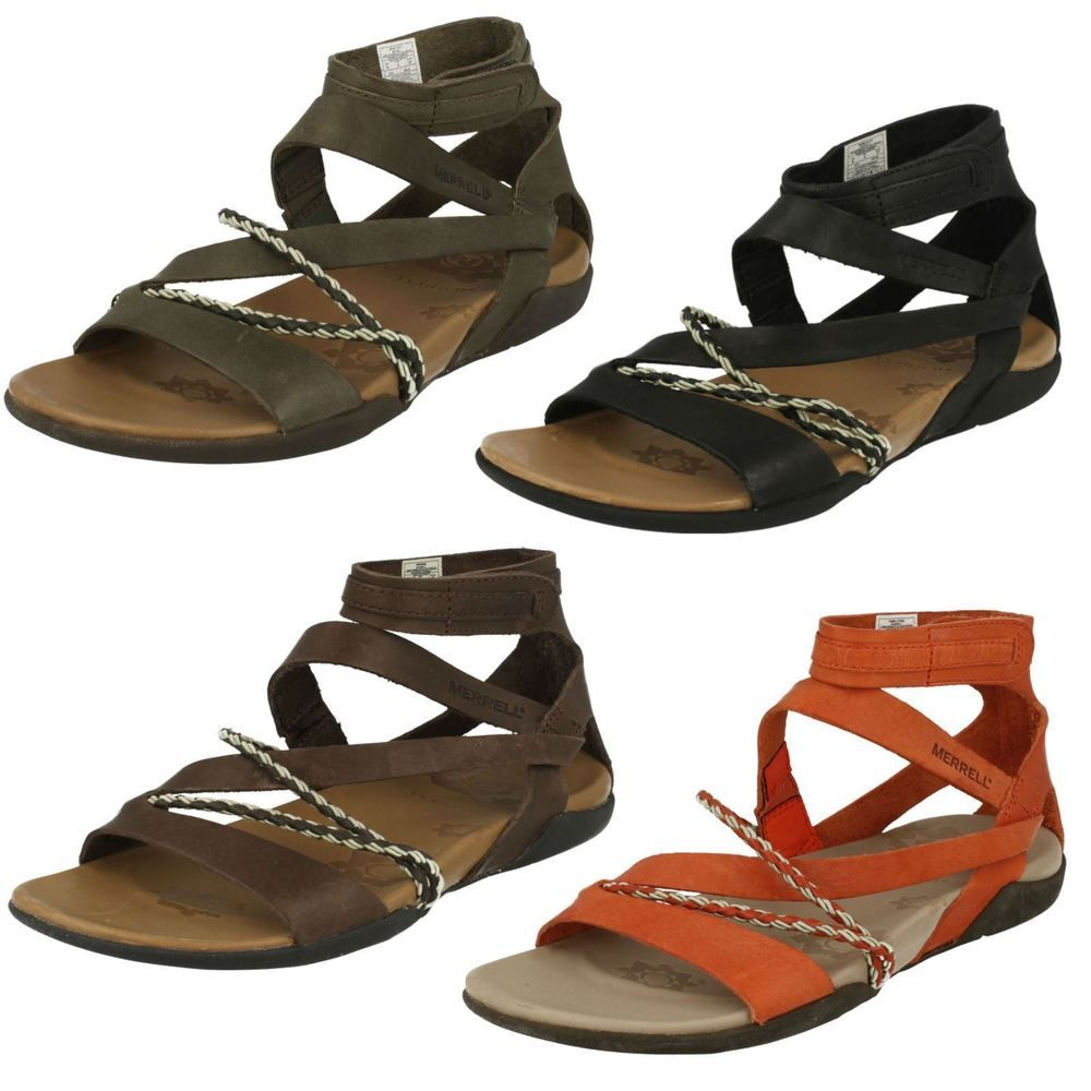 Ladies Merrell Leather Sandal Henna Wearables Merrell