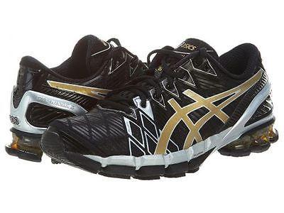 Asics Gel Kinsei 5 Mens T3e4y 9094 Black Gold Silver Running Shoes