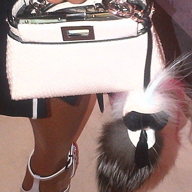 Straight Off The Runway: Our new obsession... #Fendi's mini 'Peekaboo' & the 'Karlito' #MFW #SS15 #SaksAtTheShows