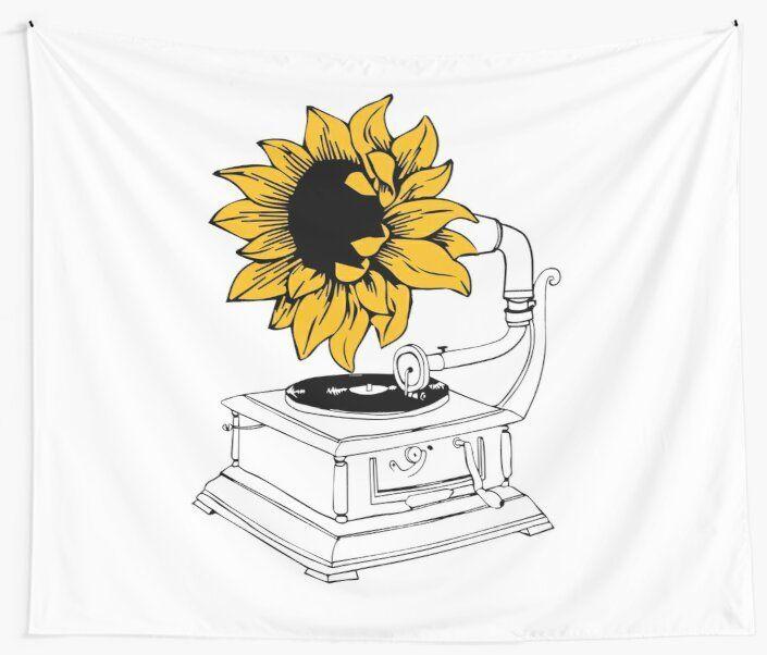 'Sunflower vol 6 H' Tapestry by loveontour2020   Harry ...